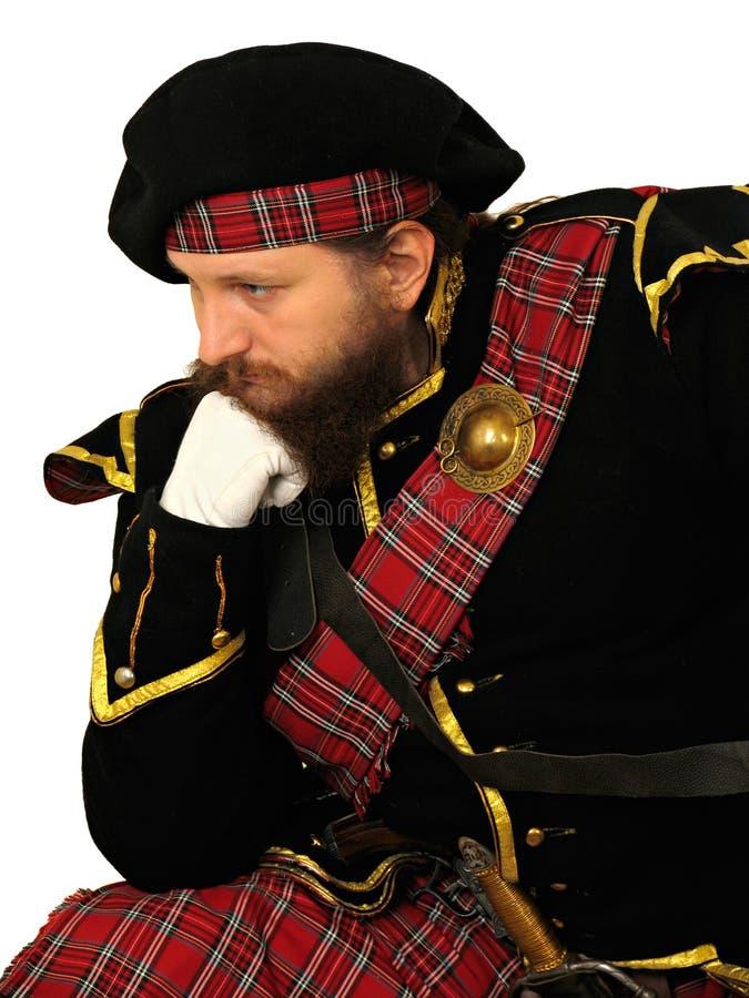 Guerrero escocés foto de archivo