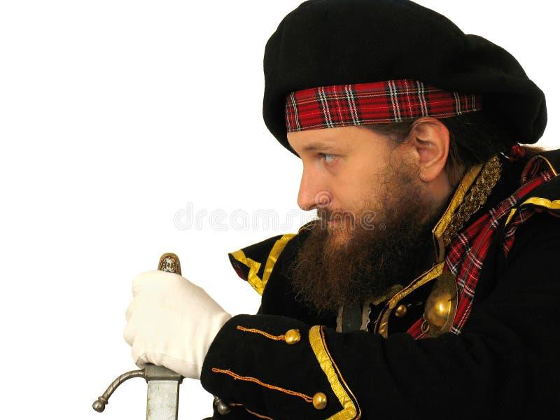 Guerrero escocés con la espada fotografía de archivo libre de regalías