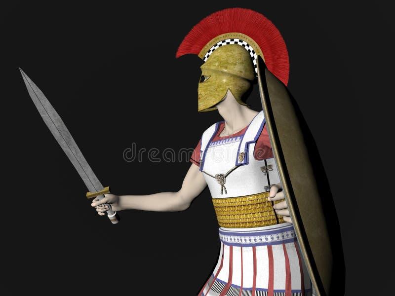 Guerrero espartano o romano griego libre illustration