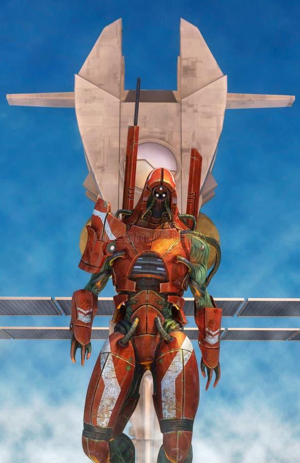 Guerrero extranjero del soldado de caballería del espacio libre illustration