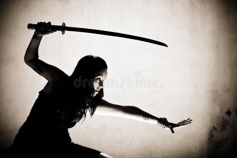 Guerrero femenino foto de archivo libre de regalías