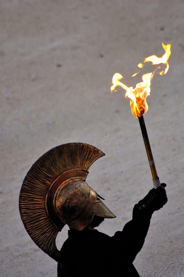 Guerrero griego imagen de archivo