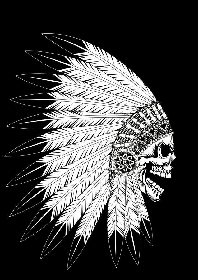Guerrero indio ilustración del vector