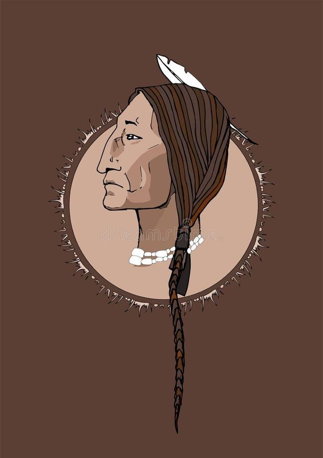 Guerrero indio stock de ilustración