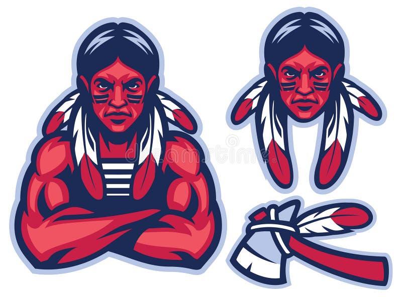 Guerrero nativo americano libre illustration