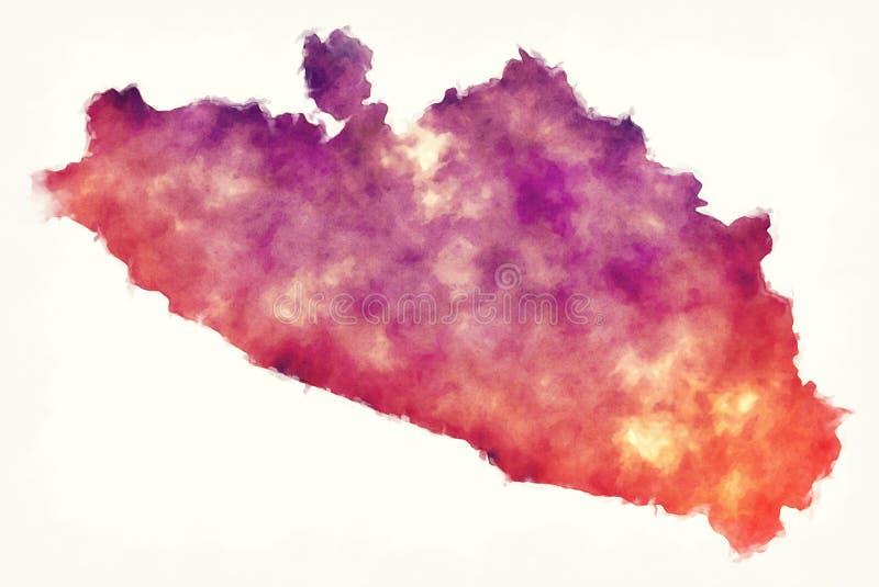 Guerrero-Staatskarte von Mexiko vor einem weißen Hintergrund vektor abbildung