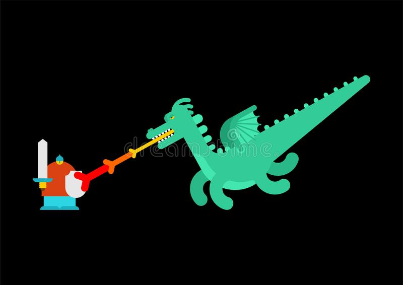 Guerrero y serpiente rusos del héroe Cuento popular de Rusia stock de ilustración