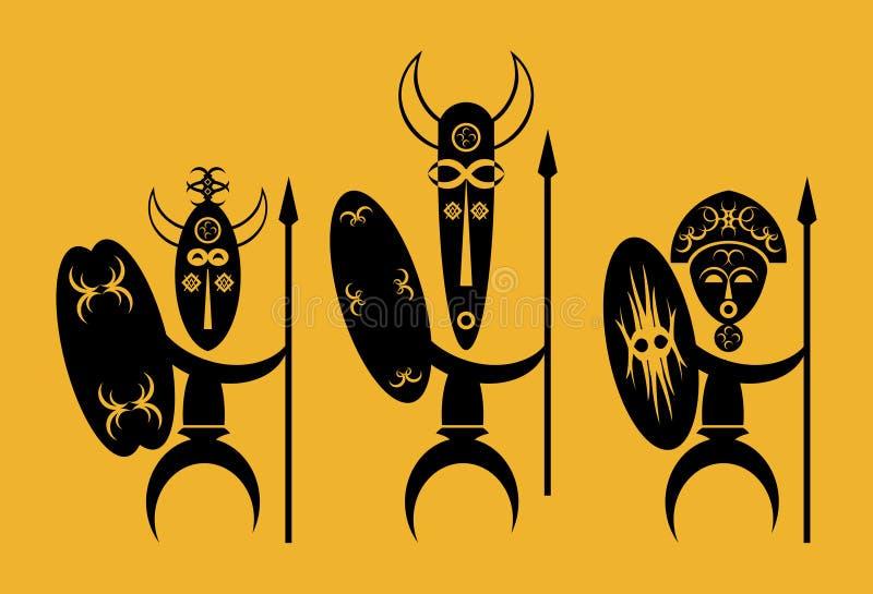 Guerreros africanos libre illustration