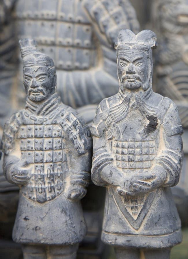 Guerreros de la terracota imagen de archivo libre de regalías