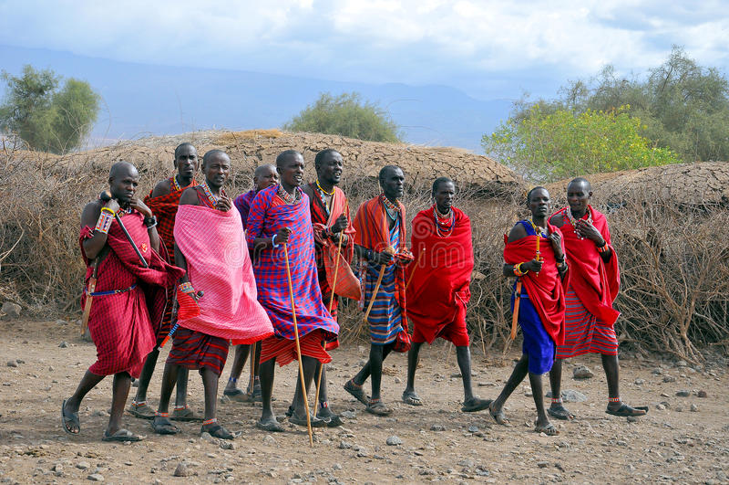 Guerreros de Maasai imágenes de archivo libres de regalías