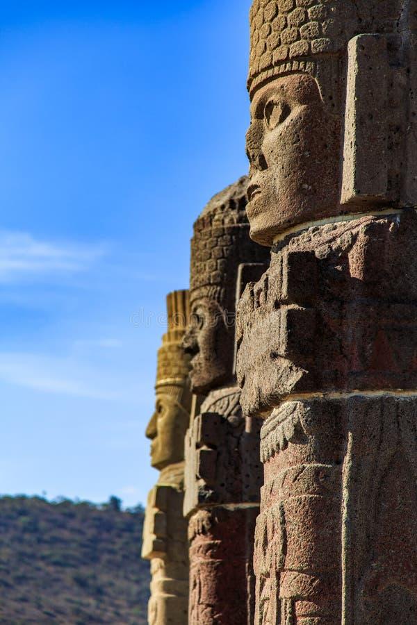 Guerreros de Toltec - Atlantes imagen de archivo libre de regalías