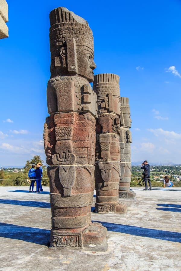 Guerreros de Toltec - Atlantes foto de archivo