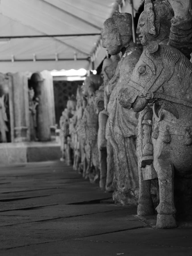 Guerreros del thailande del templo de los caballos imagen de archivo libre de regalías