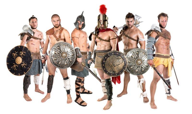 Guerreros/gladiadores antiguos imagenes de archivo