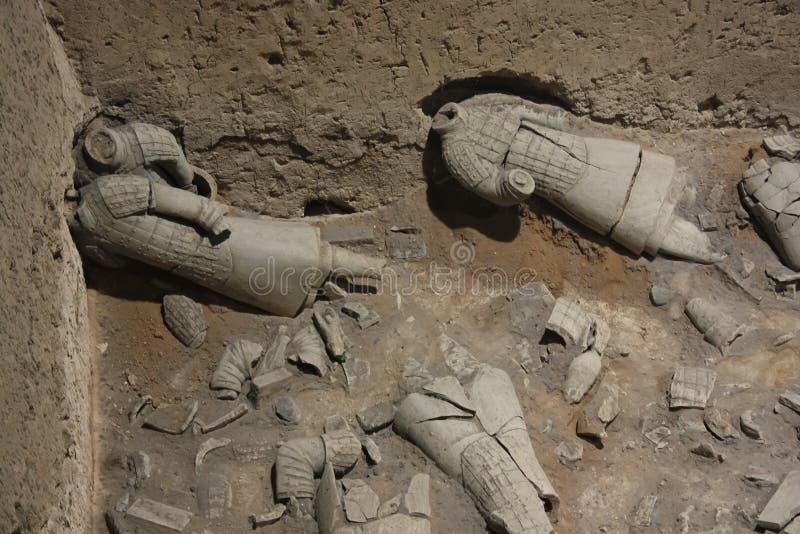 Guerreros quebrados, el ejército de la terracota imagen de archivo libre de regalías