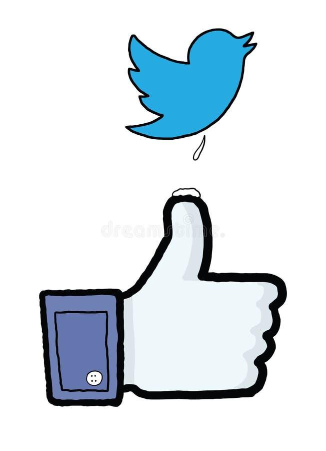 Guerres de media sociales illustration de vecteur