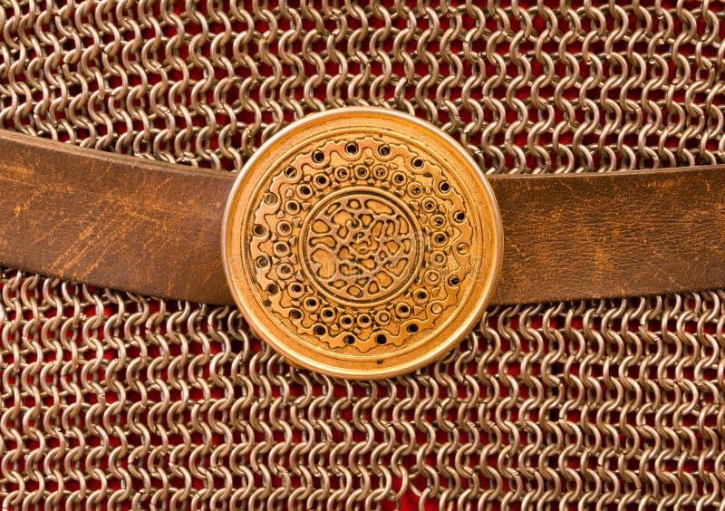 Guerrier antique d'armure photo stock