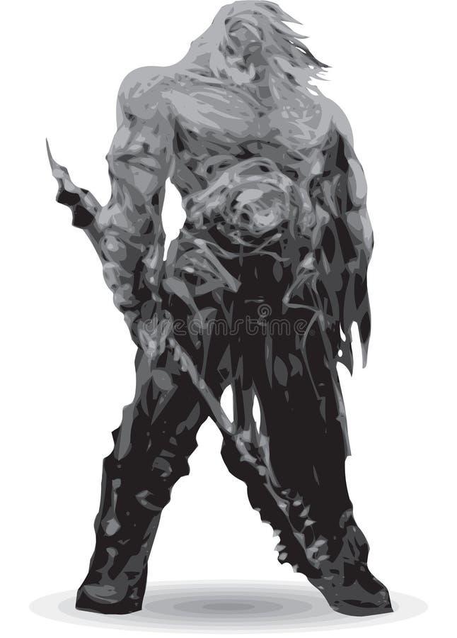 Download Guerrier barbare fier illustration de vecteur. Illustration du musculaire - 8651798