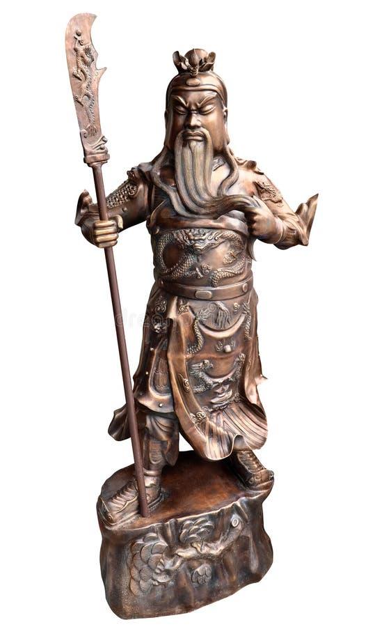 guerrier chinois de statue photos stock