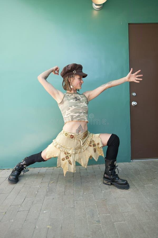 Guerrier de danseur de yoga images libres de droits