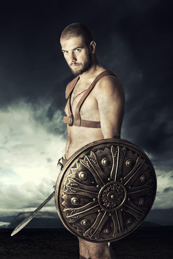 Guerrier de gladiateur photographie stock libre de droits