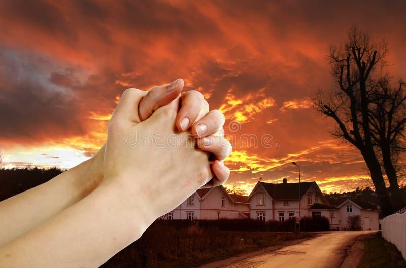 Guerrier de prière image libre de droits