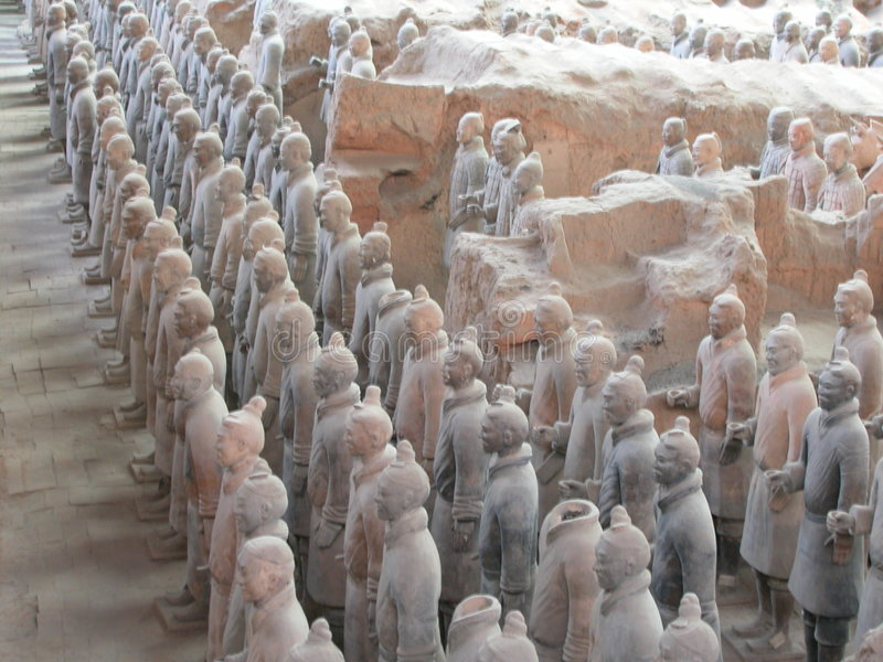 Guerrier de terre cuite de porcelaine de shanxi image stock