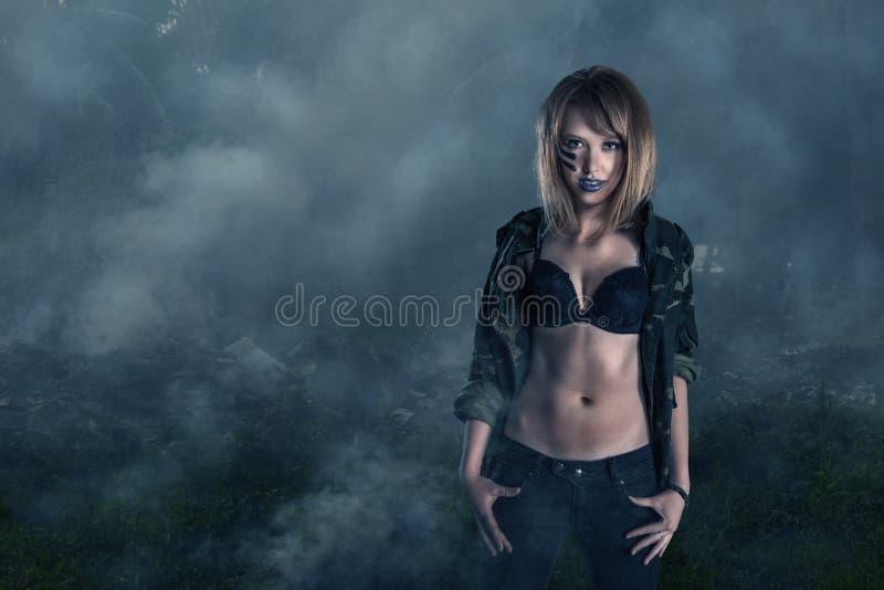 Guerrier féminin photo stock
