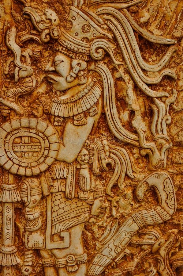 Guerrier indien maya photos stock