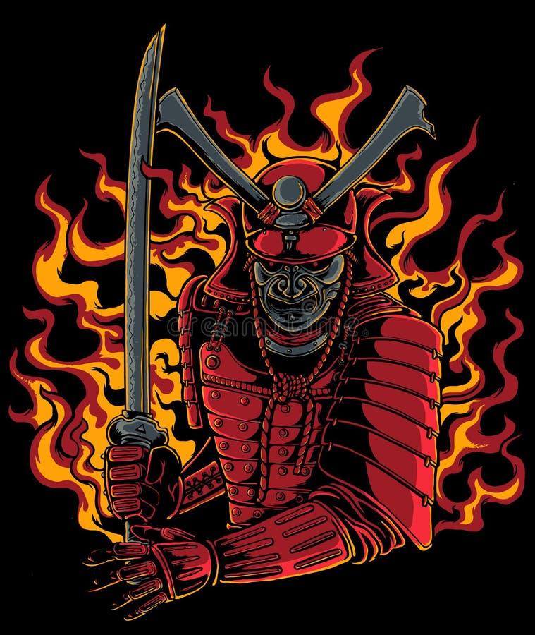 Guerrier samouraï illustration stock