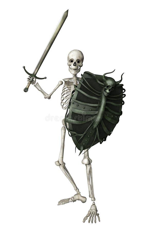 Guerrier squelettique illustration stock
