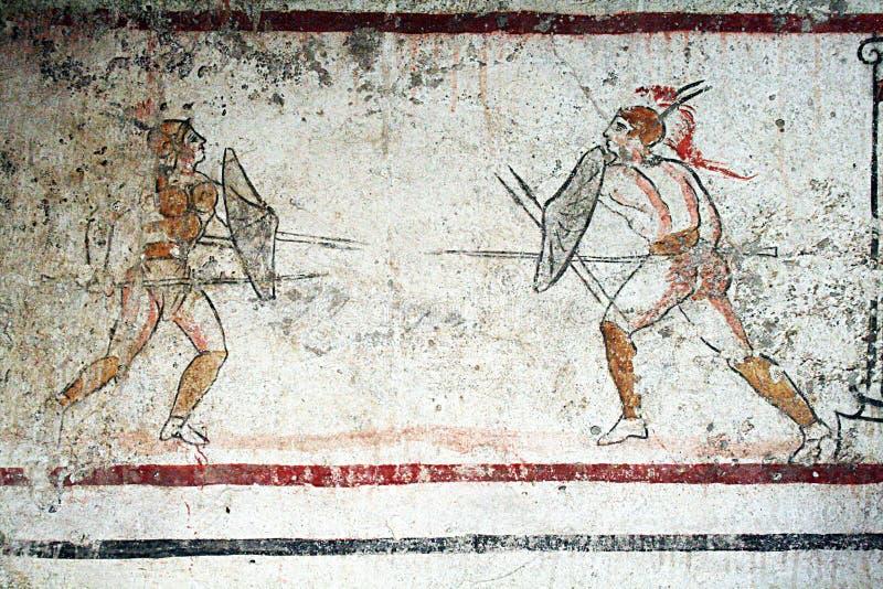 Guerrieri di Paestum immagine stock