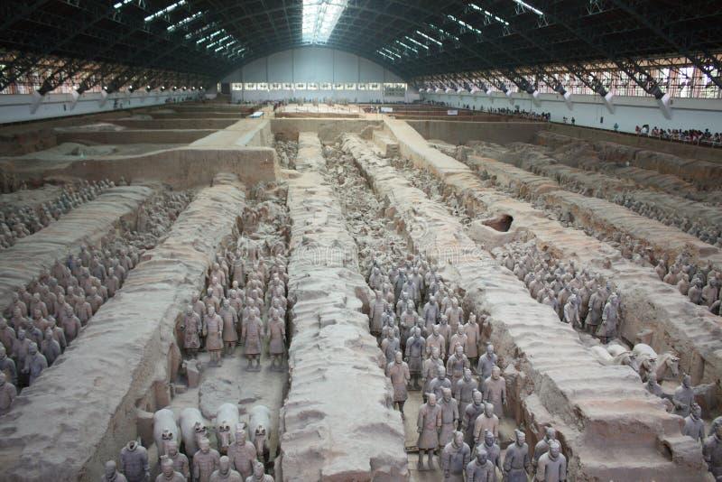 Guerrieri di terracotta, Cina immagine stock