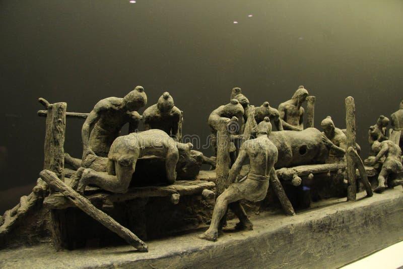 Guerrieri Liverpool di terracotta fotografia stock