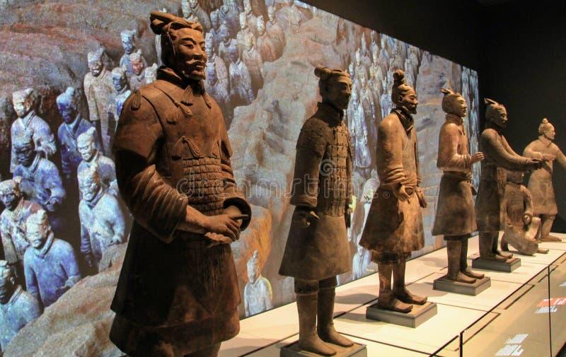 Guerrieri Liverpool di terracotta immagine stock