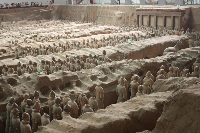 Guerrieri museo, Xian di terracotta fotografia stock