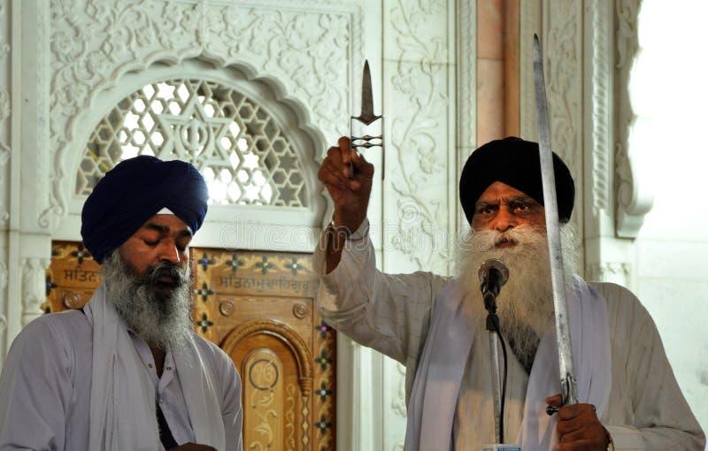 Guerrieri sikh fotografie stock