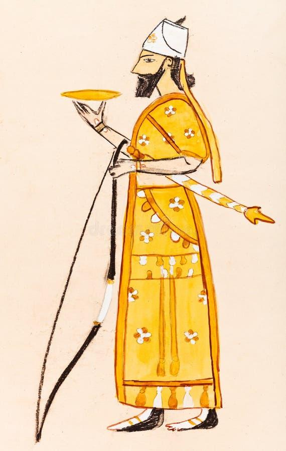 Guerriero Assyrian illustrazione di stock