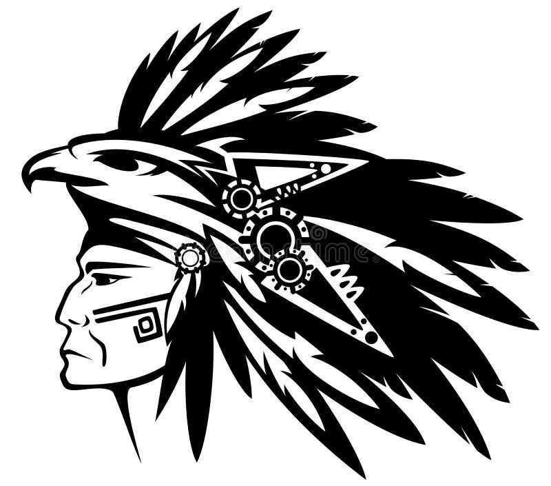 Guerriero azteco illustrazione di stock
