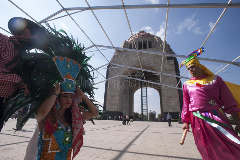 Guerriero azteco immagini stock