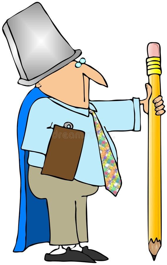 Guerriero dell'ufficio illustrazione vettoriale