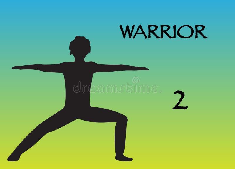 Guerriero 2 dell'uomo di yoga illustrazione vettoriale