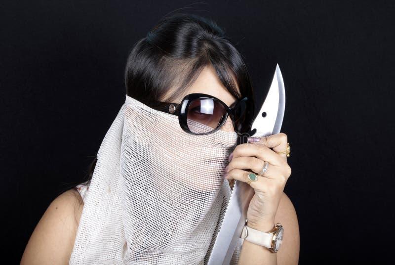 Guerriero della ragazza fotografie stock libere da diritti