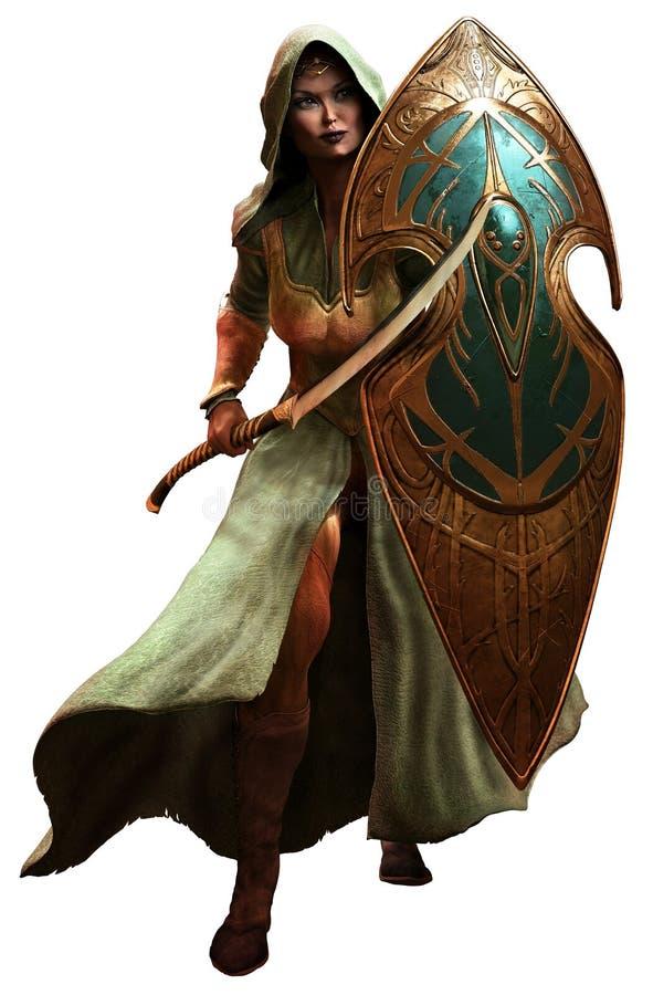Guerriero di Elf illustrazione di stock