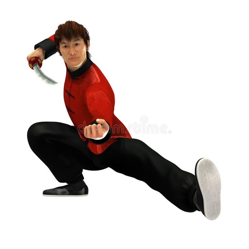 Guerriero di Kung Fu royalty illustrazione gratis
