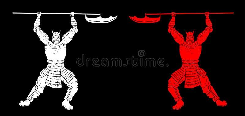 Guerriers élégants illustration de vecteur