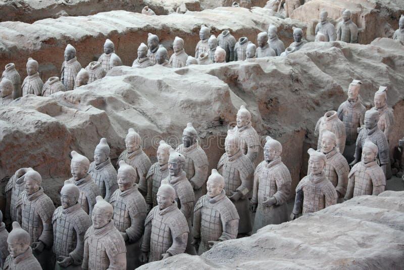 Guerriers de terre cuite, Chine photographie stock libre de droits