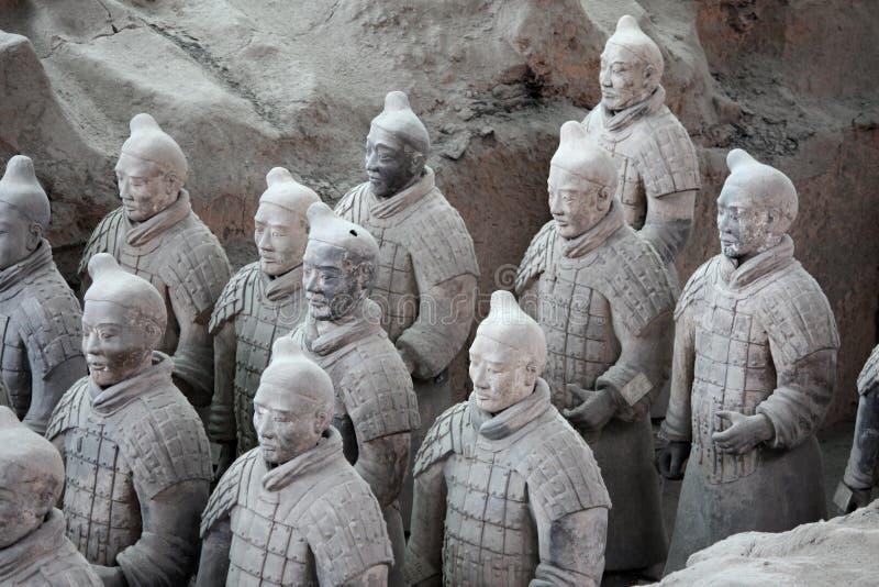 Guerriers de terre cuite, Chine photo stock
