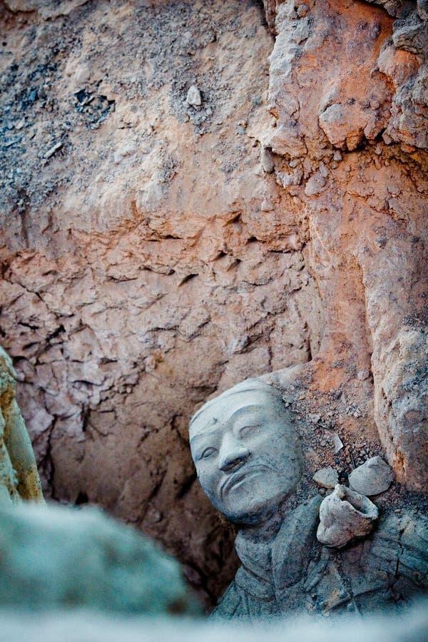Guerriers de terre cuite de Qin image stock