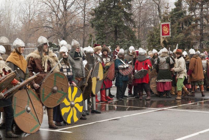 Guerriers en Russie photos stock
